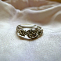 Roset Ring  Wire Wrapped by asterflowerdesigns on Etsy