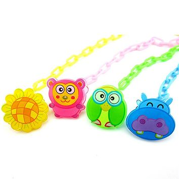 New Baby Pacifier Chain Baby Dummy Clip Holder Feeding Product Animal Cartoon Baby Pacifier Anti lost Chain