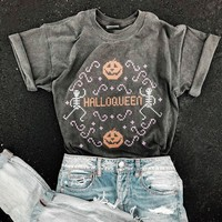Halloqueen Cross-Stitch Shirt