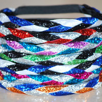 AWESOME Braided Glitter No Slip HEADBAND - Made-to-Order - You Pick The Colors - Premium Quality and Customer Service