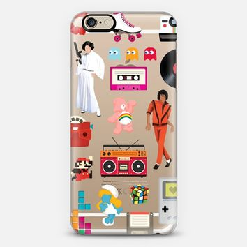Acceptable in the 80s - iPhone 6 transparent case iPhone 6 case by Nour Tohme | Casetify