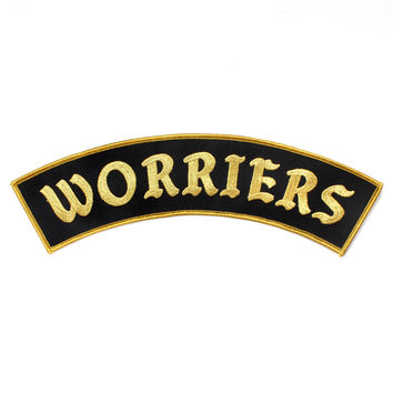 Worriers Large Back Patch - Black/Gold