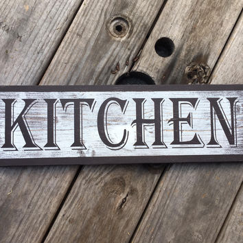 Medium Kitchen wood sign. Farmhouse style home décor. Bible quote on rustic sign. Western wood art. Anniversary gift for believers. Pearland