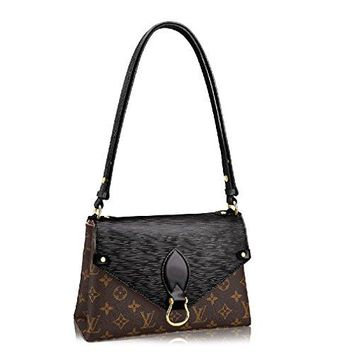 Louis Vuitton Monogram Canvas Epi Leather Shoulder Handbag Noir Saint Michel Article: M44030