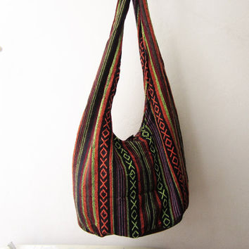bohemian crossbody bag ,aztec messenger bag, ethnic sling bag, tribal hobo bag, indian geometric  hipster bag, coachella Y005