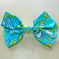 Tri Delta Sorority Lilly Pulitzer Print Hair Bow