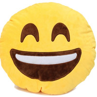 Emoji Super Happy Pillow