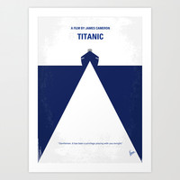 No100 My Titanic minimal movie poster Art Print by Chungkong
