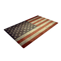 "Bruce Stanfield ""Flag of US Retro"" Rustic Woven Area Rug"