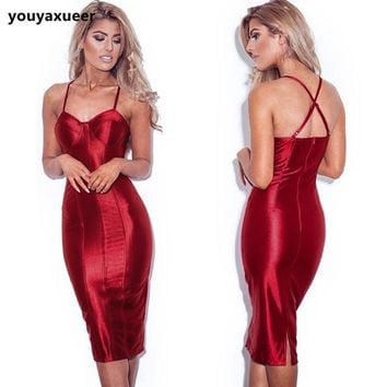 Autumn Shiny Satin Dress
