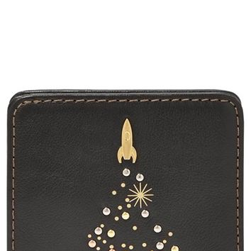 Women's Fossil 'Rocket' Print Bifold Wallet - Black