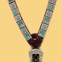 Turquoise Flower Bling Set - The Tack Stop