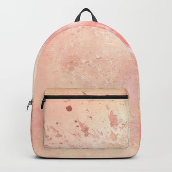 Rose Colored Splashes Backpack by Theresa Campbell D'August Art