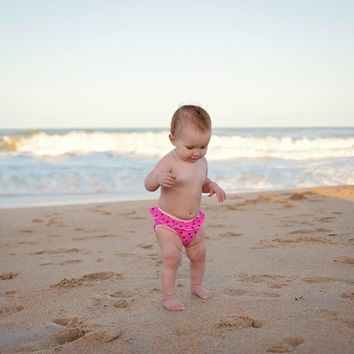 Pink Polka Dots Swim Diaper