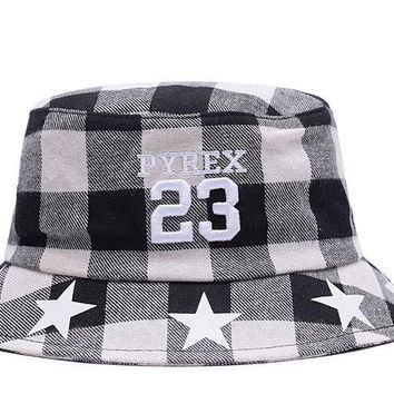 hcxx Full Leather Bucket Hats PYREX 23 White