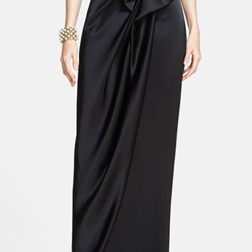 Women's St. John Collection Draped Liquid Satin Evening Skirt