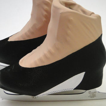 Black High Heel Skate Boot Cover / Figure Skating / Ice Skating / Roller Skating