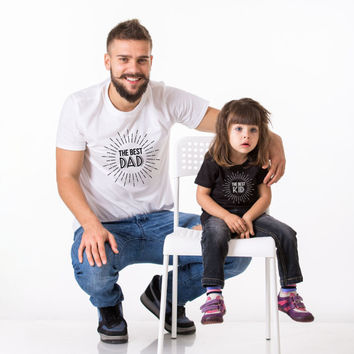 The Best Dad, The Best Kid, Father's Day T-Shirt, Father's Day, Father Son Shirt, Father Kid Shirt, Daddy and me shirt, UNISEX