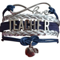 Infinity Collection Love Teacher Charms Bracelet