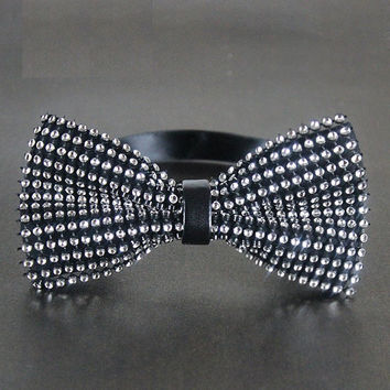 Mens Diamond-studded Bowties Mens Neckties Men's Crystal Bow Ties - Fashion Self ties Retro Cotton Bowties Wedding Bow Ties for Men