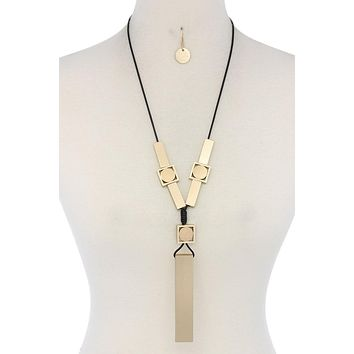 Modern Geometric Shape Necklace