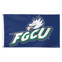 Licensed Florida Gulf Coast Eagles Official NCAA Flag 3x5 Deluxe Banner by Wincraft KO_19_1