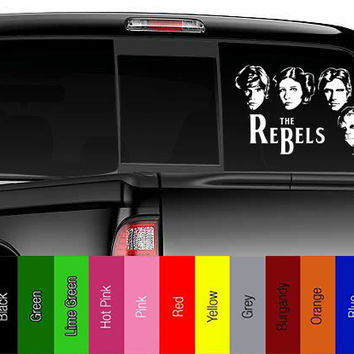 Star Wars - Princess Leia - The Rebels / Beatles mashup -  Vinyl Decal for Car, Truck, Wall, Laptop - Jedi, Empire, Rebel, Skywalker,