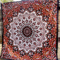 STAR PSYCHEDELIC mandala hippie boho wall hanging tapestries indian bohemian bedding throw bedspread ethnic home decor
