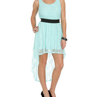 Lace Elastic High-Low Dress | Shop Dresses at Wet Seal