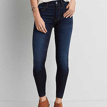 AEO Sateen X Hi-Rise Jegging, Softened Twilight