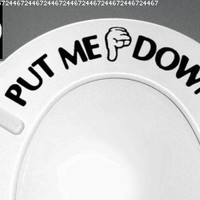 down boy toilet seat reminder | just b.CAUSE