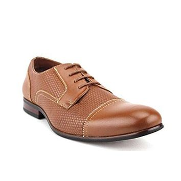 Ferro Aldo Men's 19502L Cap Toe Textured Lace Oxfords Dress Shoes