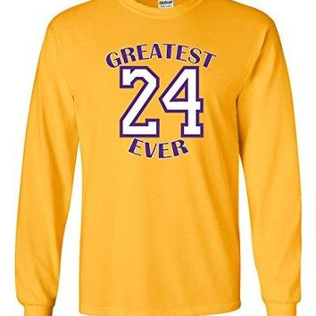 "The Silo LONG SLEEVE GOLD Los Angeles Kobe ""Greatest Ever"" T-Shirt"