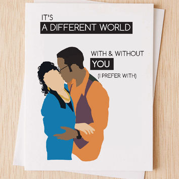 Like Dwayne & Whitely, We Belong Together, A Different World, Valentines Card, Love you Card, Anniversary Card For Her, Love Card for Him
