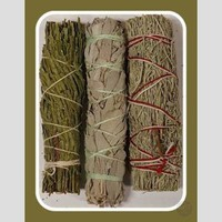 Cedar, White & Blue  Sage Smudge Sticks