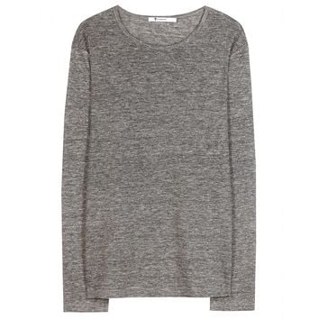 t by alexander wang - classic long-sleeved top