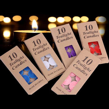 10pcs Tea Light Scented Candle