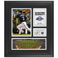 Scooter Gennett Milwaukee Brewers Framed 15'' x 17'' Collage with Piece of Game-Used Ball - http://www.shareasale.com/m-pr.cfm?merchantID=7124&userID=1042934&productID=540321594 / Milwaukee Brewers