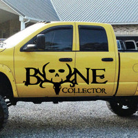 Bone Collector Deer Hunting Truck Car vinyl graphics SUV will fit any car tr019