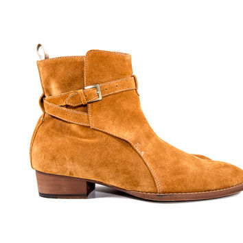 Tan Suede Chelsea Boots Size:10