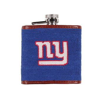 New York Giants Needlepoint Flask by Smathers & Branson