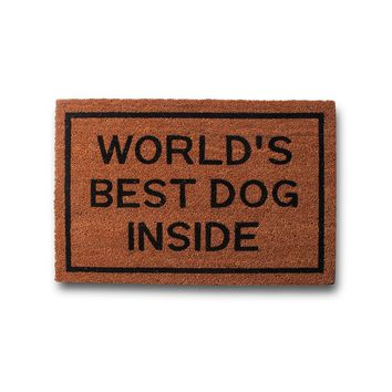 World's Best Dog Inside Coir Doormat