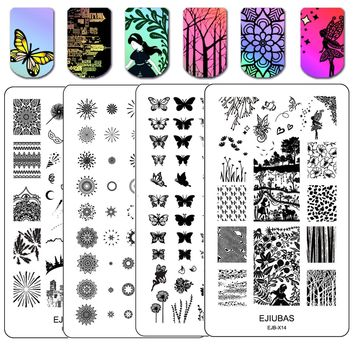 Nail Art Plates Manicure Tools Christmas Halloween Double Sided Stamping Kits