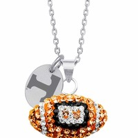 University of Tennessee Swarovski Crystal Football Charm. Free Shipping
