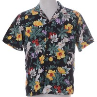Vintage Vintage Hawaiian Shirt Black With A Revere Front | Beyond Retro