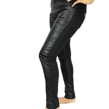 WOMENS LADIES SIZE 4-10 AMERICAN APPAREL SHINY POCKET DISCO JEANS JEGGINGS PANTS