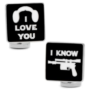 I Love You I Know Icon Cufflinks BY STAR WARS