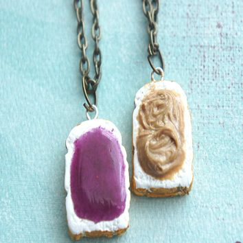 Peanut Butter and Jelly Toasts Friendship Necklace Set