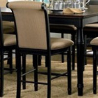 Traditional Black Counter Height Table - Coaster 101828