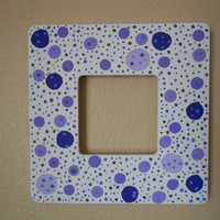 Painted Frame Dotted Purple by Acires on Etsy